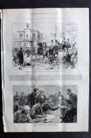ILN 1880 Antique Print. General Election - Middlesex & Southwark Election